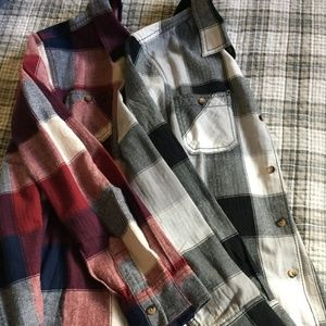 Set of 2 Boys Arizona Plaid Shirts L